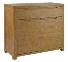 Heart Of House Weymouth 2 Dr 1 Drawer Oak Veneer Sideboard