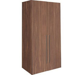 Hygena Atlas 2 Door Tall Wardrobe - Walnut Effect