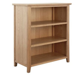 Islington 2 Shelf Oak Veneer Bookcaseb