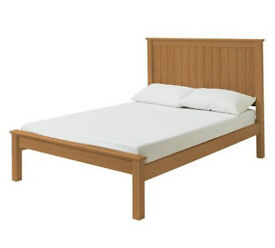 Grafton Double Bed Frame - Oak Stain