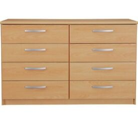Collection Hallingford 4+4 Drawer Chest - Beech Effect
