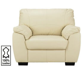 Milano Leather Chair - Ivory