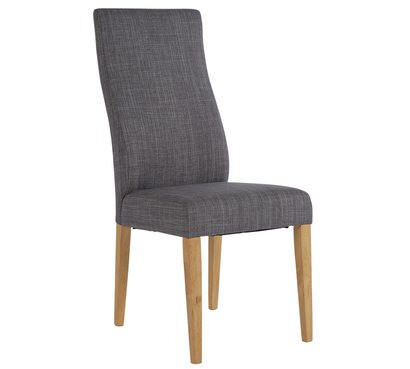 Collection Pair of High Back Curved Dining Chairs - Grey