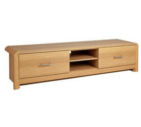 Heart Of House Elford Large TV Bench - Oak Effect