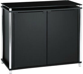 Matrix 2 Door Glass Sideboard - Black
