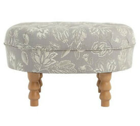 Heart of House Darcy Fabric Footstool - Floral
