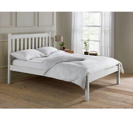 Silbury Double Bed Frame - Whitewash Effect