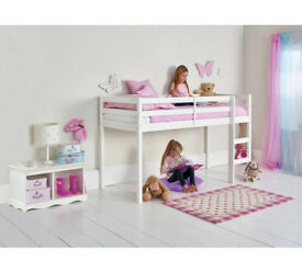 HOME Kaycie Mid Sleeper Shorty Bed Frame - White