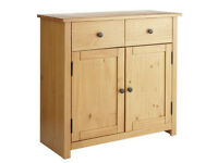 Home Porto 2 Door 2 Drw Solid Wood Sideboard - Oak Eff