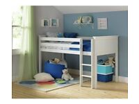 Collection Brooklyn Wooden Mid Sleeper - White