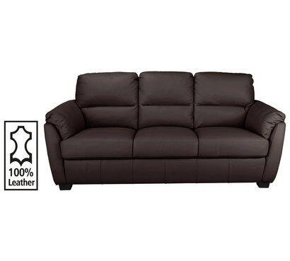Trieste 3 Seater Leather Sofa - Dark Brown