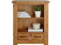 Harvard 1 Shelf 2 Drawer Solid Pine Bookcase