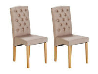 Collection Aurelia Pair Of Fabric Chairs - Natural