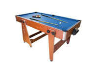 2-in-1 Pool and Air Hockey Folding Table