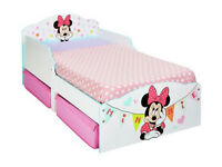 Minnie Mouse Toddler Bed with Underbed Storage Draws