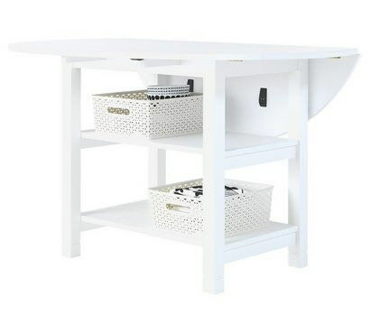 Collection Extendable 4 Seater Table with Storage - White