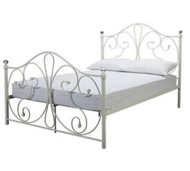 Marietta Small Double Bed Frame - White