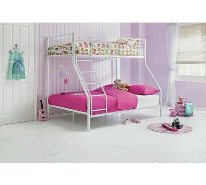 Home Lucas Metal Triple Bunk Bed Frame White In Aston West