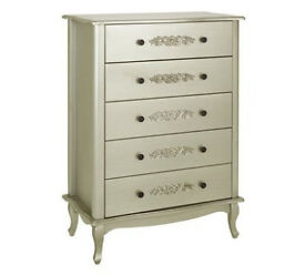 Sophia 5 Drawer Chest - Champagne