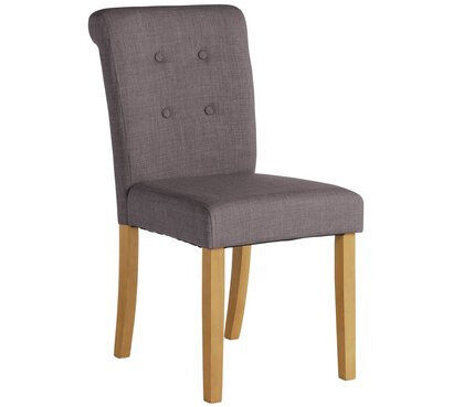 Heart of House Pair of Stroud Scroll Back Chairs - Charcoal