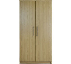 HOME Normandy 2 Door Wardrobe - Oak Effect