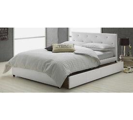 Hygena Imelda Small Double 1 Drawer Bed Frame - White
