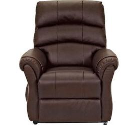 Warwick Leather Powerlift Recliner Chair - Dark Brown
