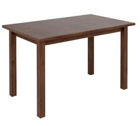 Ashdon Solid Pine 4 Seater Dining Table - Walnut Effect