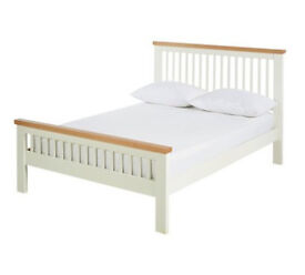Aubrey Small Double Bed Frame - Two Tone
