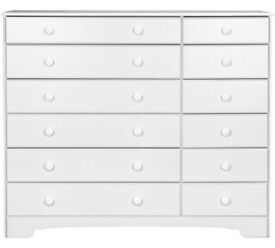 HOME Nordic 6+6 Drawer Chest - Soft White