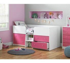 Argos Home Malibu Mid Sleeper - Pink & White