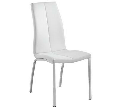 Hygena Milo Pair of Curve Back Chairs - White