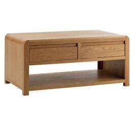 Heart of House Novara 2 Drawer Oak Veneer Coffee Table