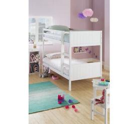 HOME Detachable Single Bunk Bed Frame - White