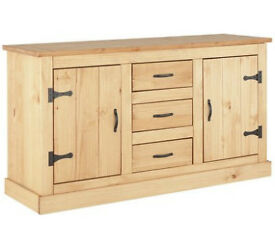 HOME San Diego 2 Door 3 Drawer Solid Pine Sideboard