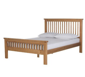 Collection Aubrey Small Double Bed Frame - Oak Effect
