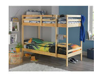 HOME Single Bunk Bed Frame - Pine