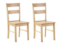 Collection Chicago Pair of Oak Effect Dining Chairs
