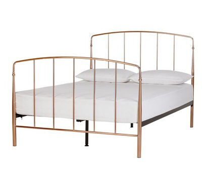 Collection Aurelie Small Double Bed Frame Rose Gold In