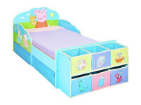 Peppa Pig Toddler Bed with Cube Storage
