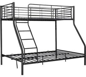 HOME Lucas Metal Triple Bunk Bed Frame - Black