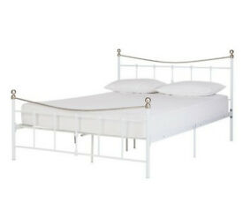HOME Aeriel Kingsize Bed Frame - White