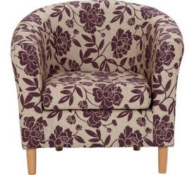 FloralFloral Fabric Tub Chair - Cranberry