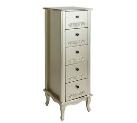Sophia 5 Drawer Tallboy - Champagne