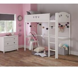 Collection Mia High Sleeper Bed Frame - White