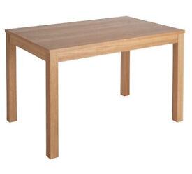 Clifton Oak Veneer 4 Seater Dining Table