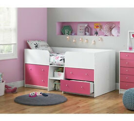 Malibu Mid Sleeper - Pink & White