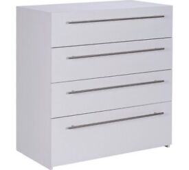 Hygena Atlas 4 Drawer Chest - White
