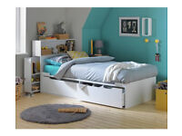 HOME Lloyd 2 Drawer Cabin Bed with Headboard Storage - White