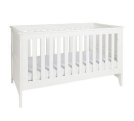 Fully assembled Cuggl Camborne Cotbed - White